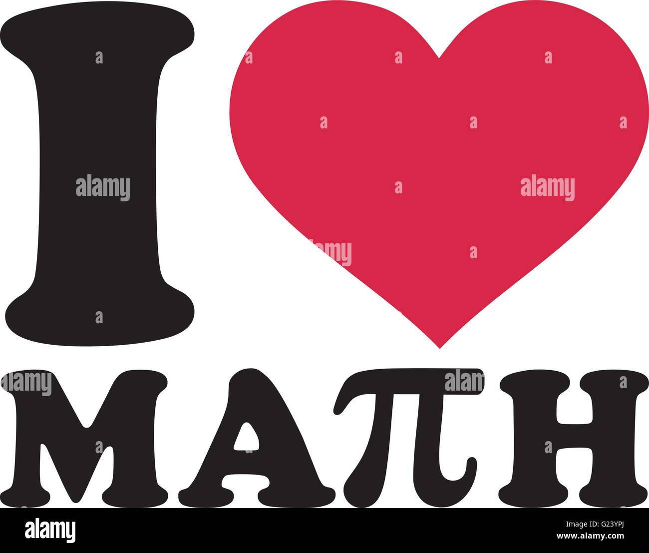 I Love Math With Pi Sign Stock Vector Art Amp Illustration Vector Image