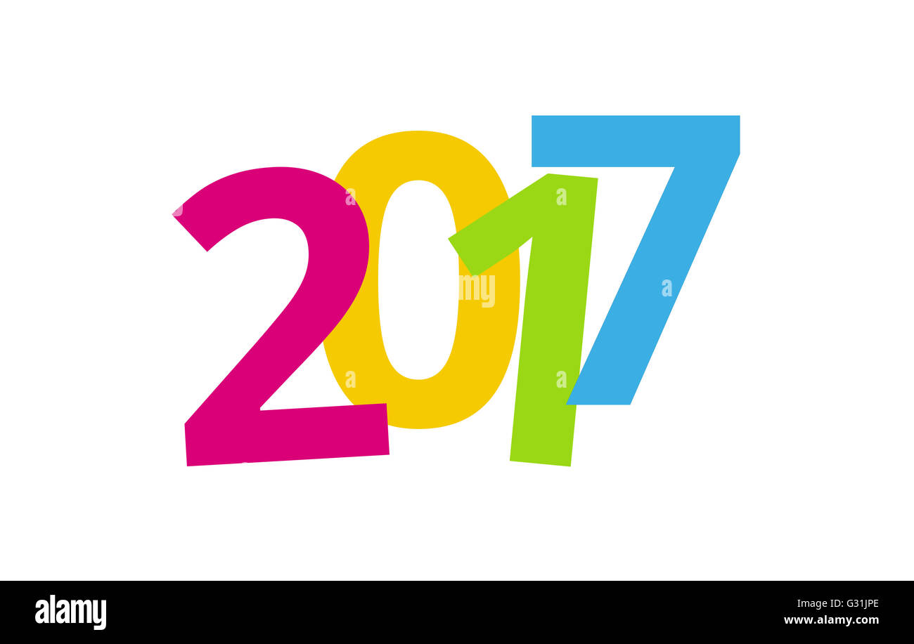 2017 happy new year color background design Stock Photo  105142870     2017 happy new year color background design