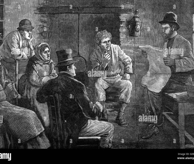 A Small Family Party Plus A Neighbour Or Two Discuss The Hot Topic Of The Day The New Irish Land Act Date 1881