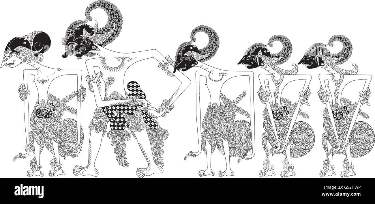 Pandawa lima adalah gambaran lima orang bersaudara yang berjuang dalam memerangi. Pandawa Stock Vector Image Art Alamy