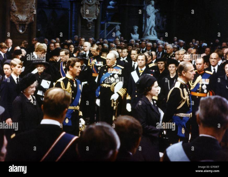 Royalty - Funeral of Lord Mountbatten - Westminster Abbey ...