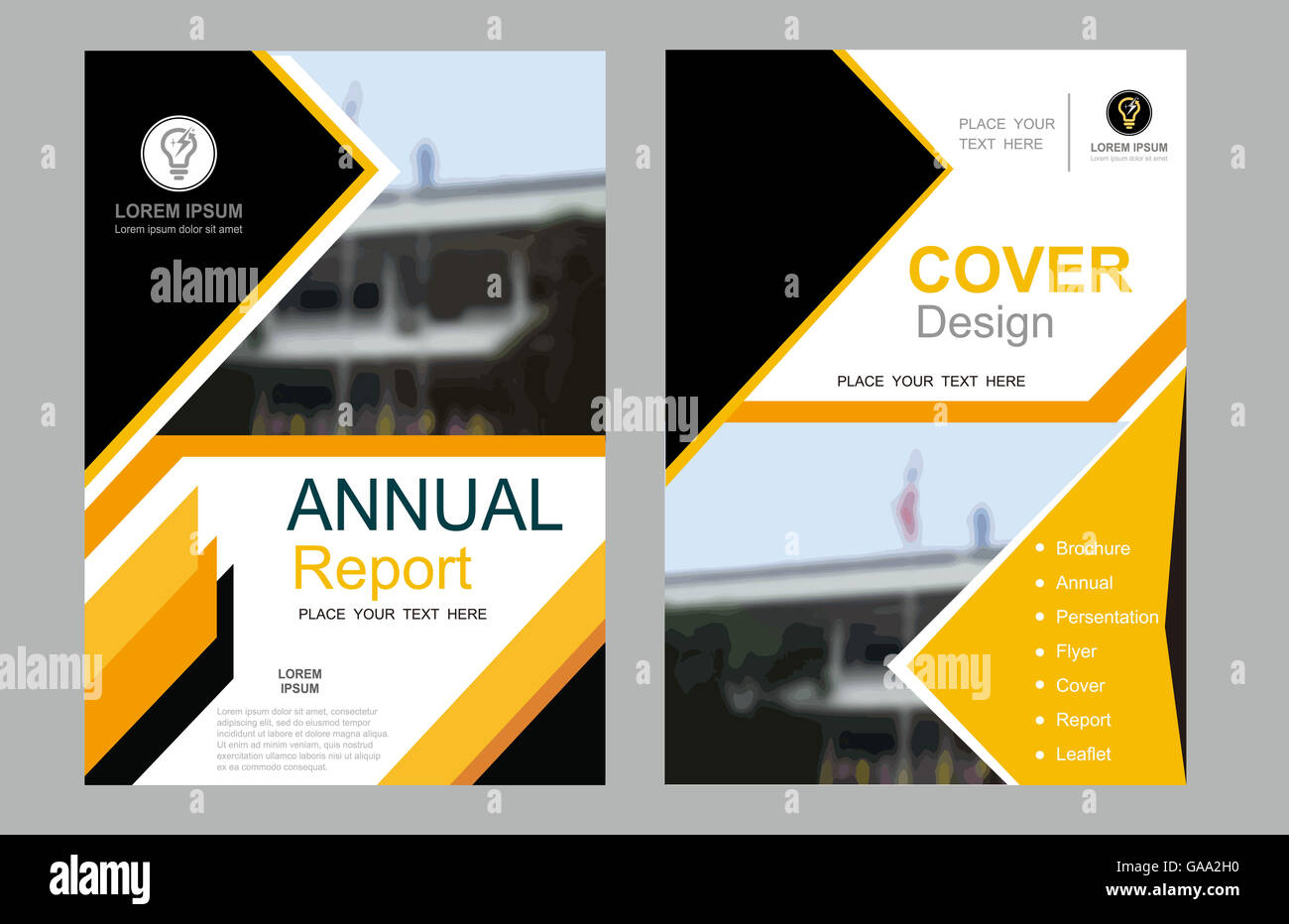 Cover Design Annual Layout Flyer Book Ad Page Vector Poster Stock Photo 109630332 Alamy