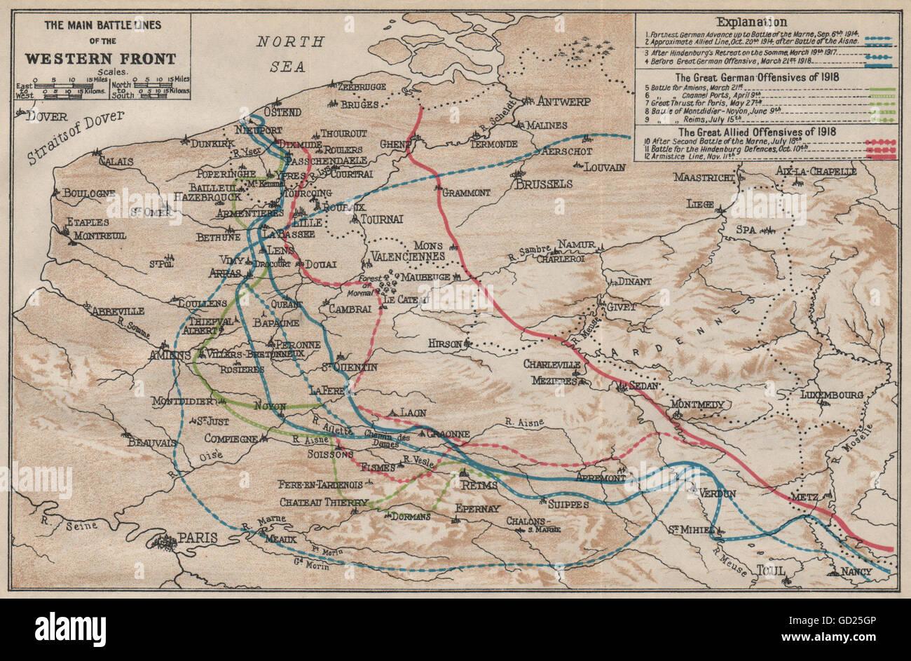 Fir Tree Map WW Ypres Salient
