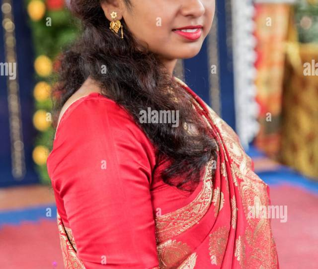 Bengali Girl Just Before Registry Marriage Stock Image