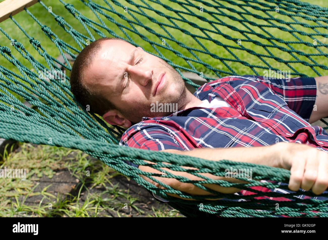 Man Sleeping In Hammock Stock Photos Amp Man Sleeping In