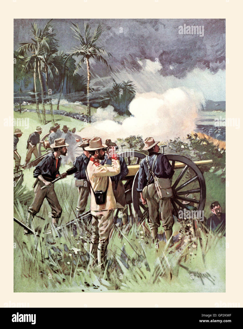 Field Artillery In Action During The Spanish American War