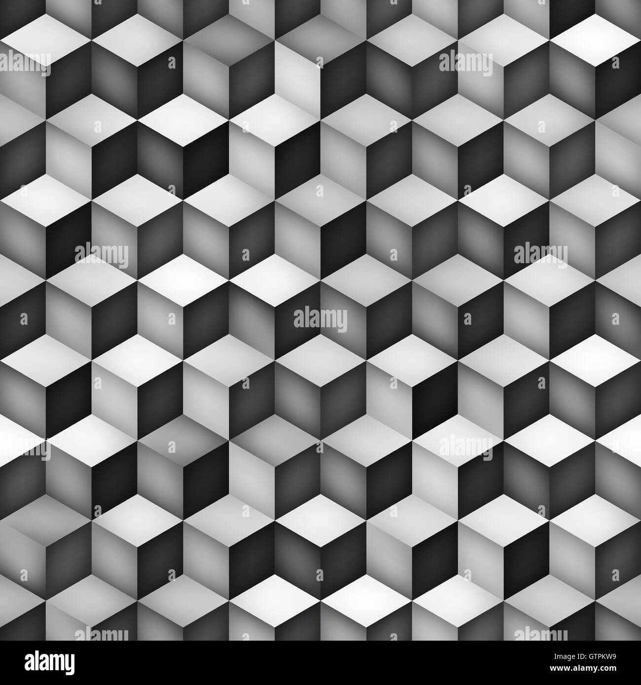Vector Seamless Greyscale Gra Nt Cube Shape Rhombus Grid Geometric Stock Vector Art