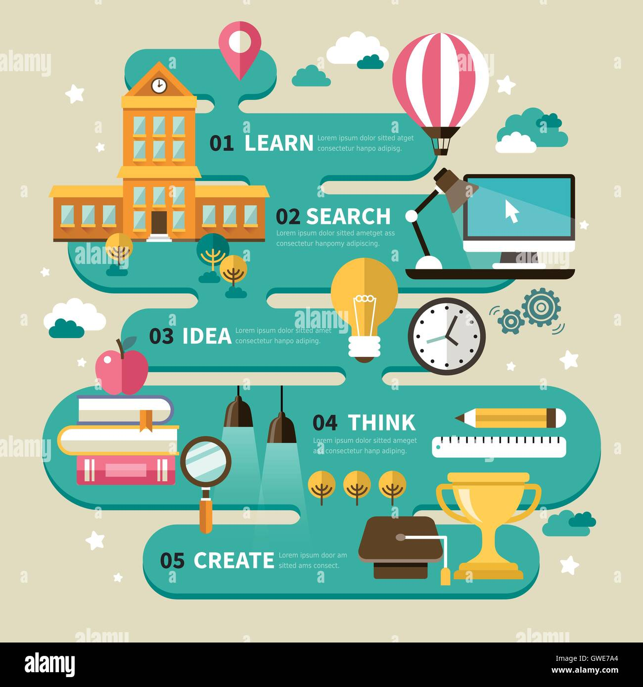 Education Infographic Design Lovely School And Stationery