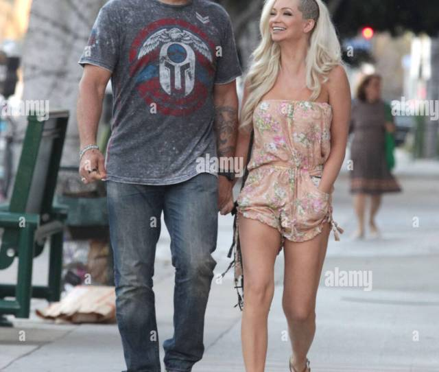 Randy Couture And Girlfriend Mindy Robinson Appear In Good Spirits While Out And About Together In Beverly Hills Featuring Randy Couture Mindy Robinson