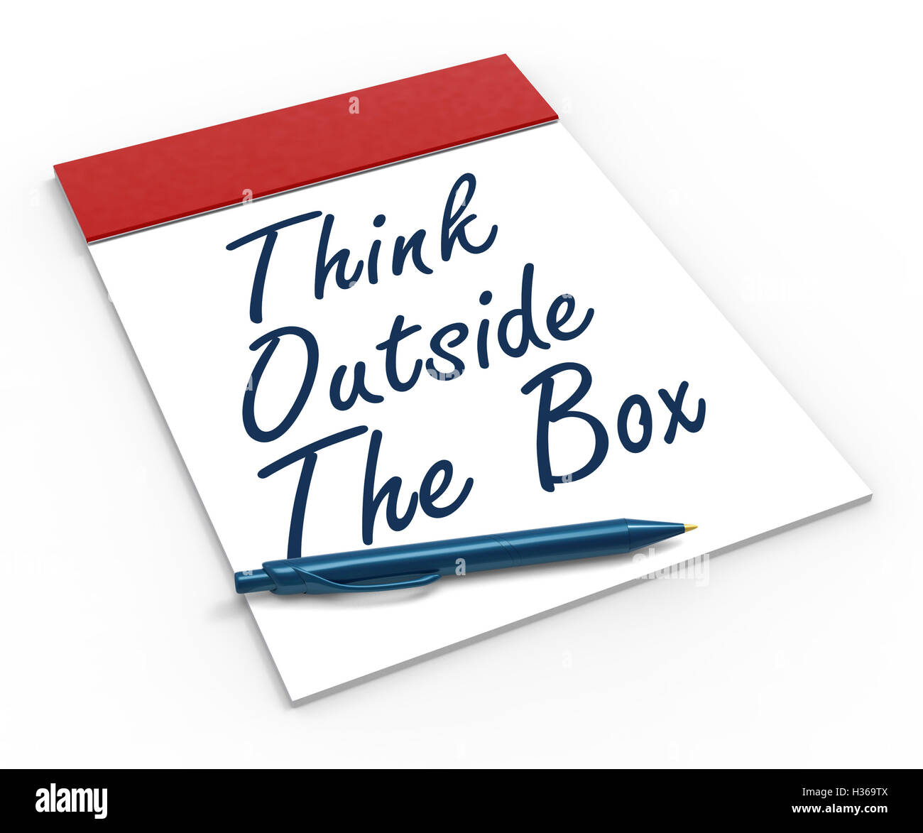 Think Outside The Box Notebook Means Creativity Or