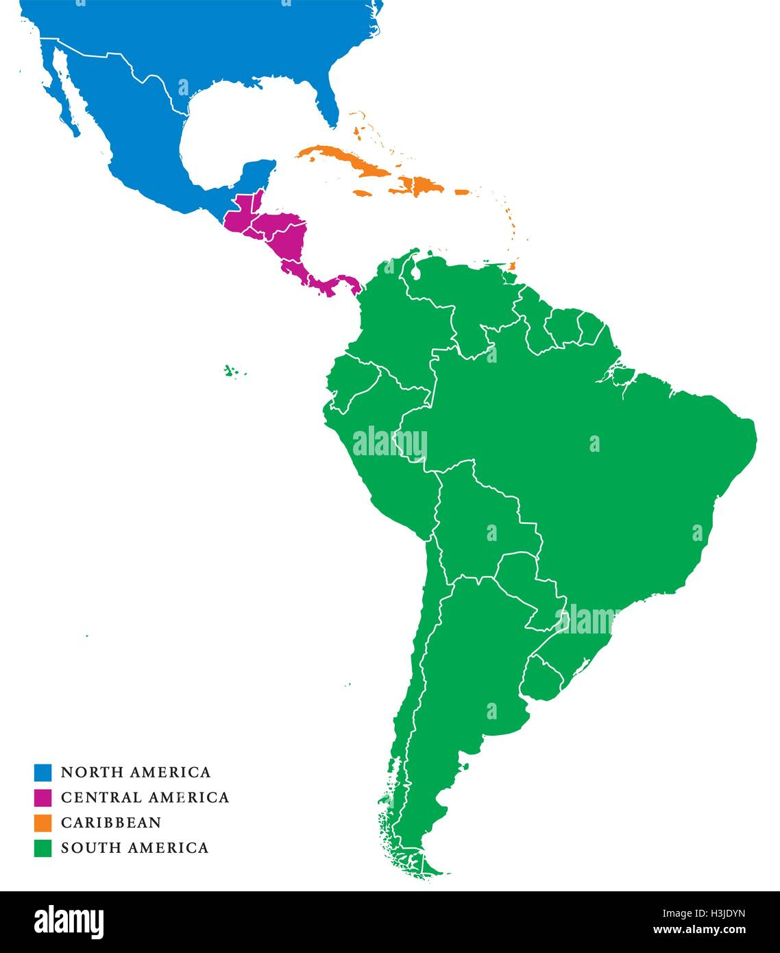 Latin America Subregions Map The Subregions Caribbean