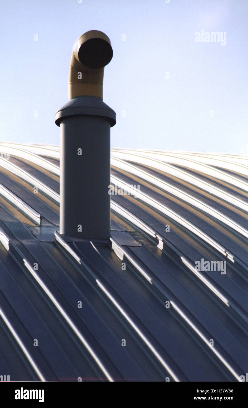 https www alamy com stock photo building detail roof exhaust air pipe architecture tin roof round 122929080 html