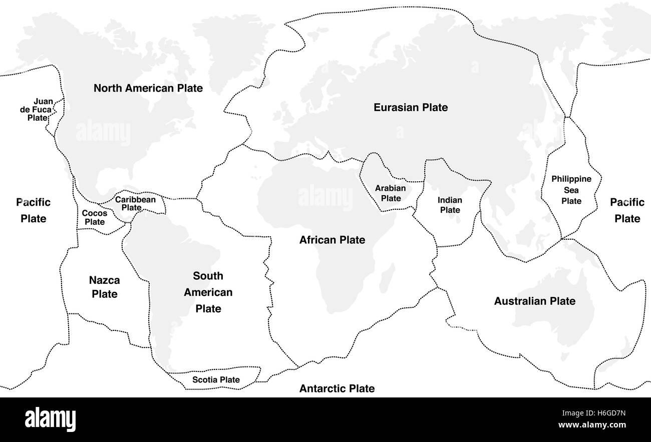 Tectonic Plates Map