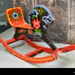 Retro Wooden Painted Rocking Horse High Resolution Stock Photography And Images Alamy