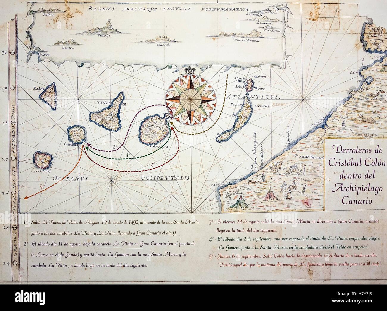 Nautical Chart Map Circa Depicting Christopher