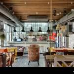 Restaurant With Open Kitchen Stock Photo Alamy