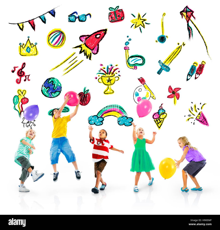 Kids Childhood Leisure Activity Education Concept Stock Photo