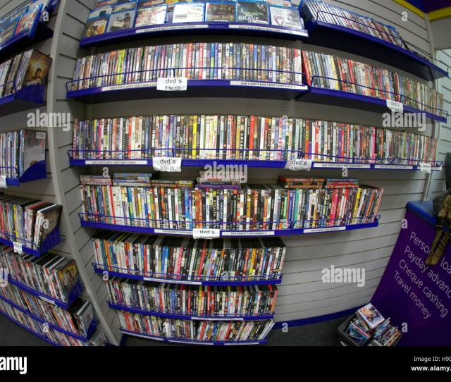 Dvd Store Shelves Full Of Dvds Cashconverter