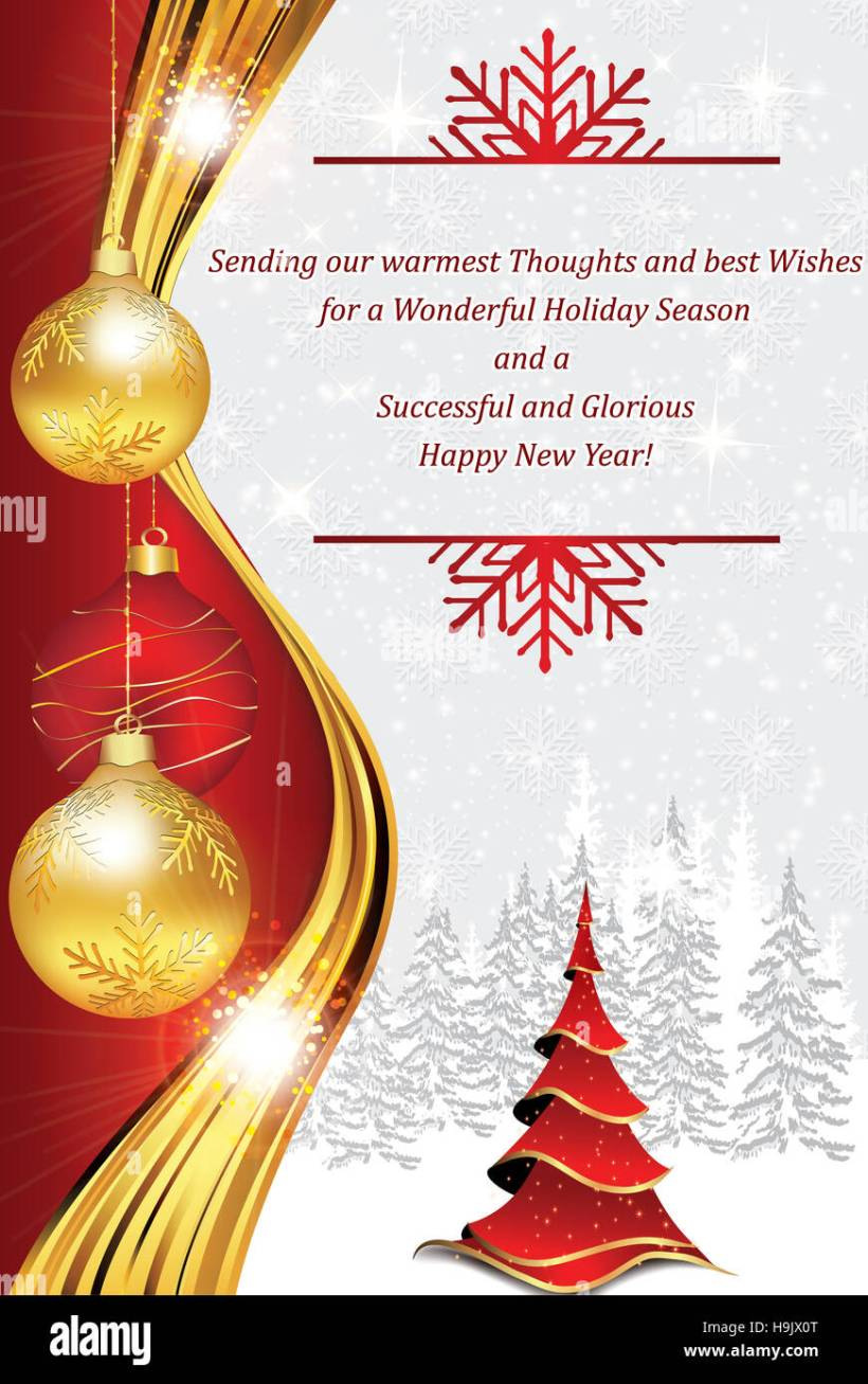 New Year Card Messages For Business Cardss