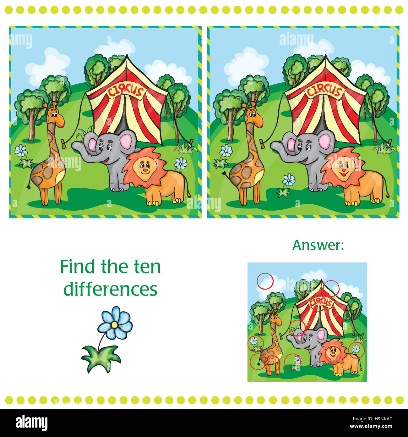 Spot The Difference Puzzle High Resolution Stock