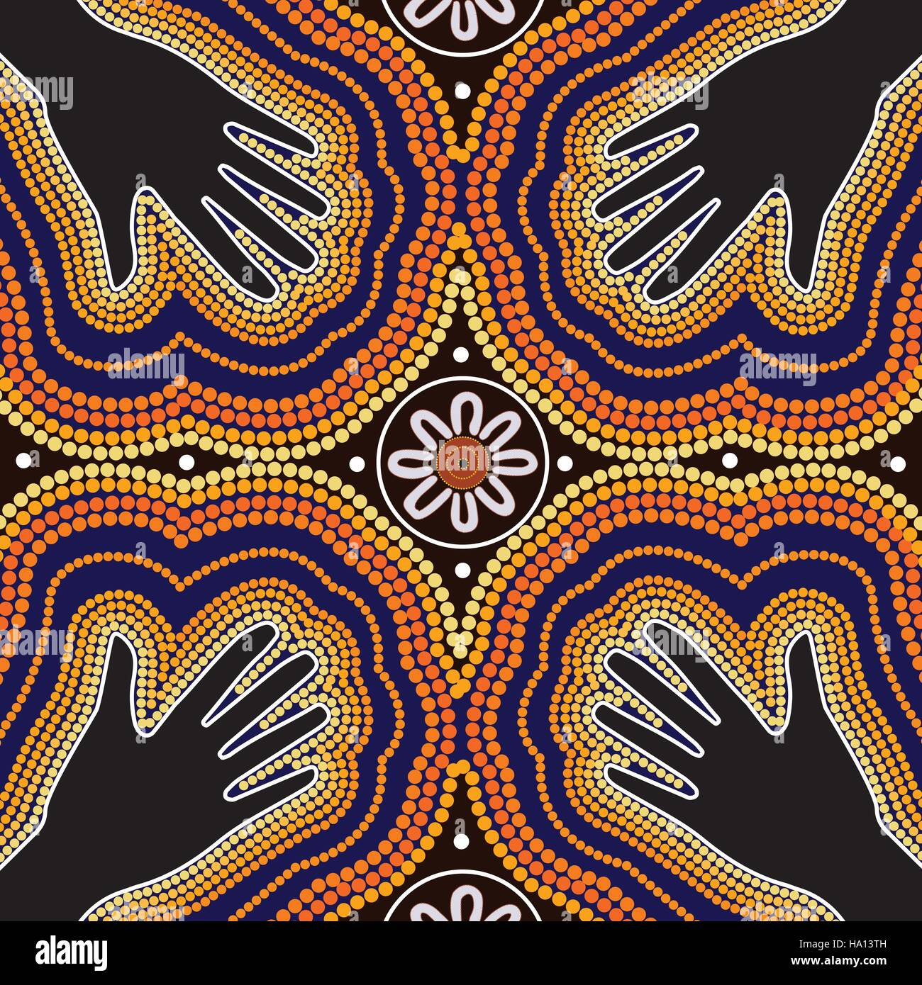 Aboriginal Art Vector Painting Stock Vector Art