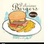 Vector Fast Food Restaurant Menu Brochure Cover Design Template Stock Vector Image Art Alamy