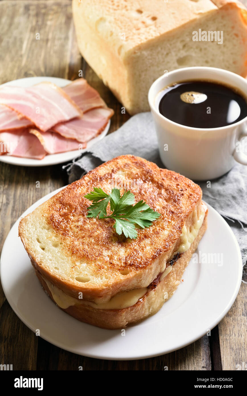 https www alamy com stock photo toast sandwich with cheese and cup of coffee country style 128471404 html