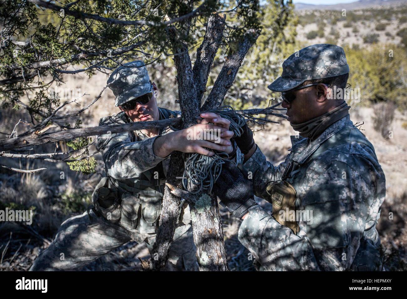 Desert Warrior Students Build A Makeshift Shelter During