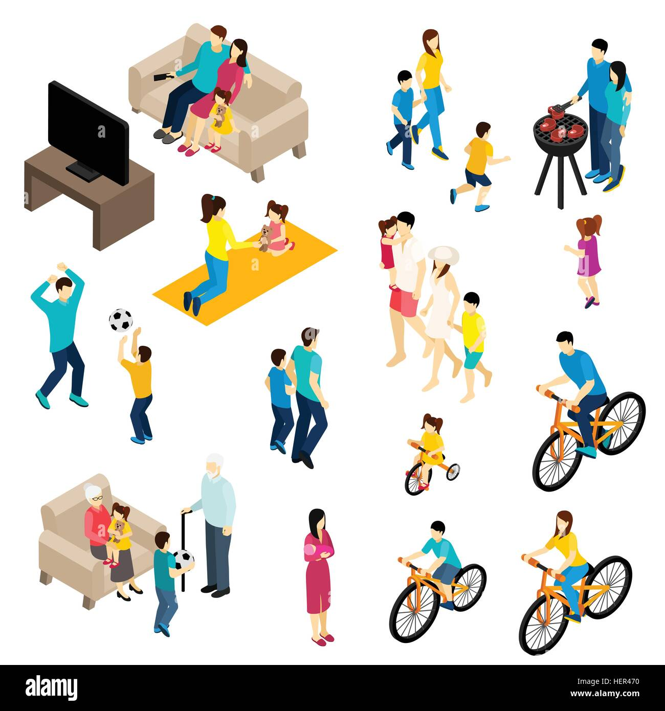 Family Isometric Set Family Isometric Set With Free Time