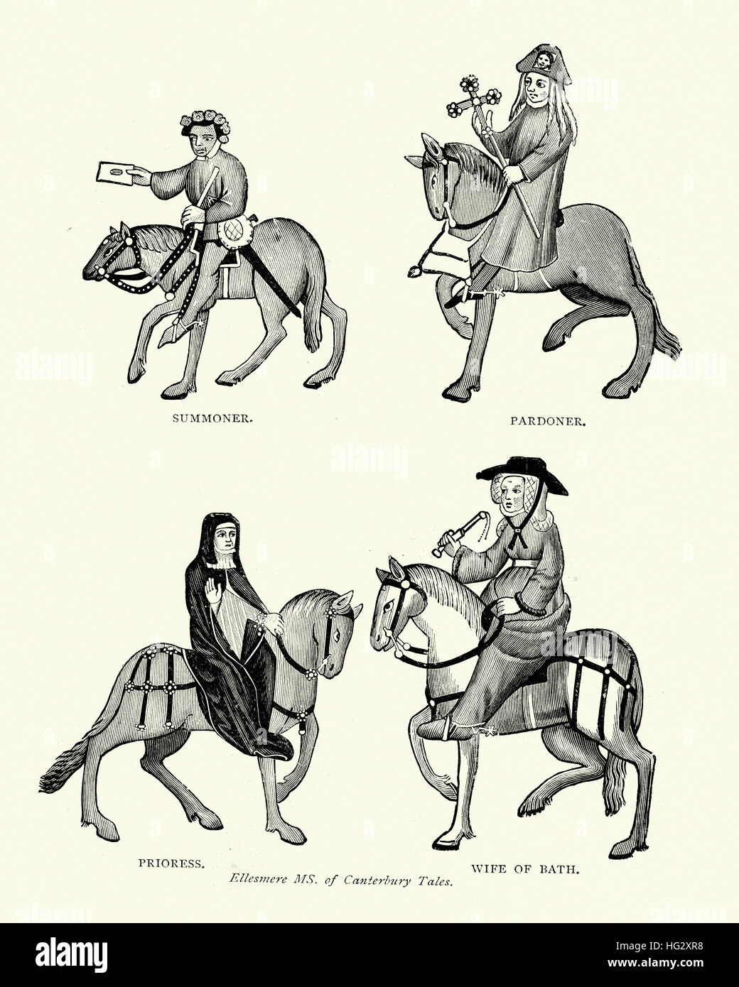 Characters From Geoffrey Chaucer S Canterbury Tales