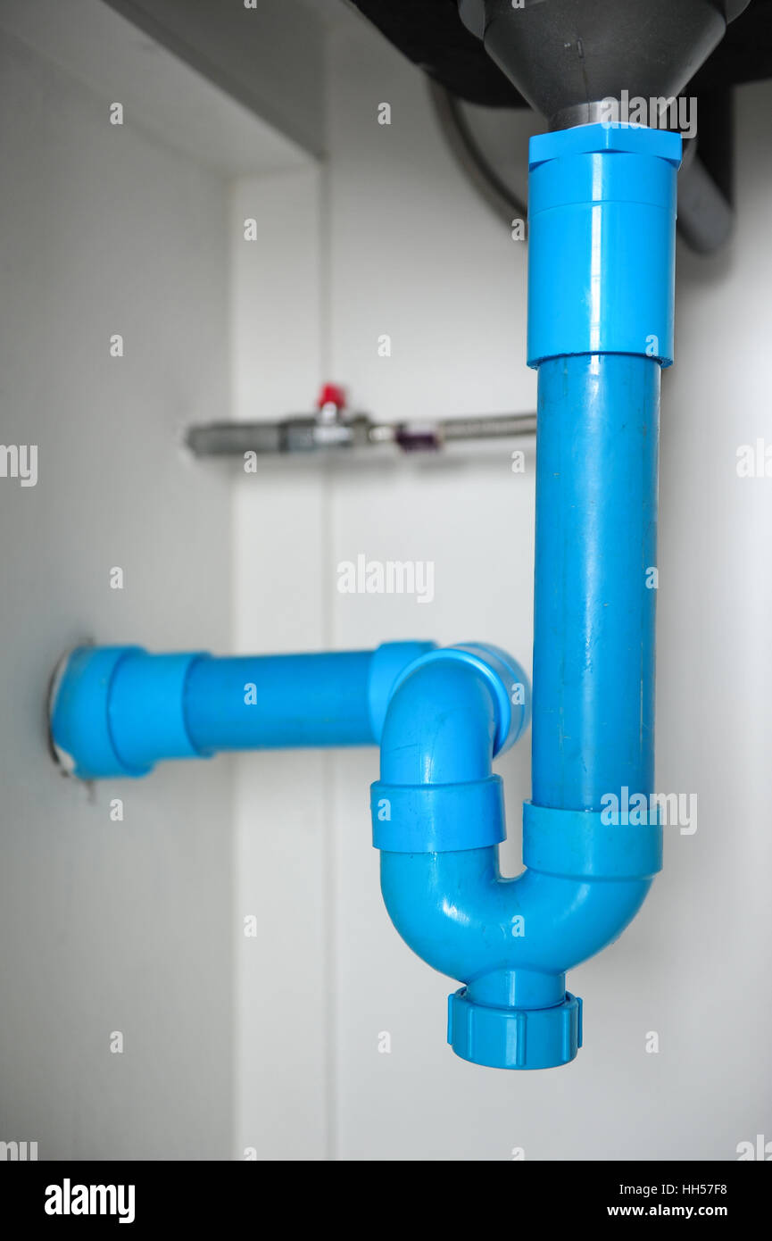 https www alamy com stock photo sewer pipes under the kitchen sink 131037404 html