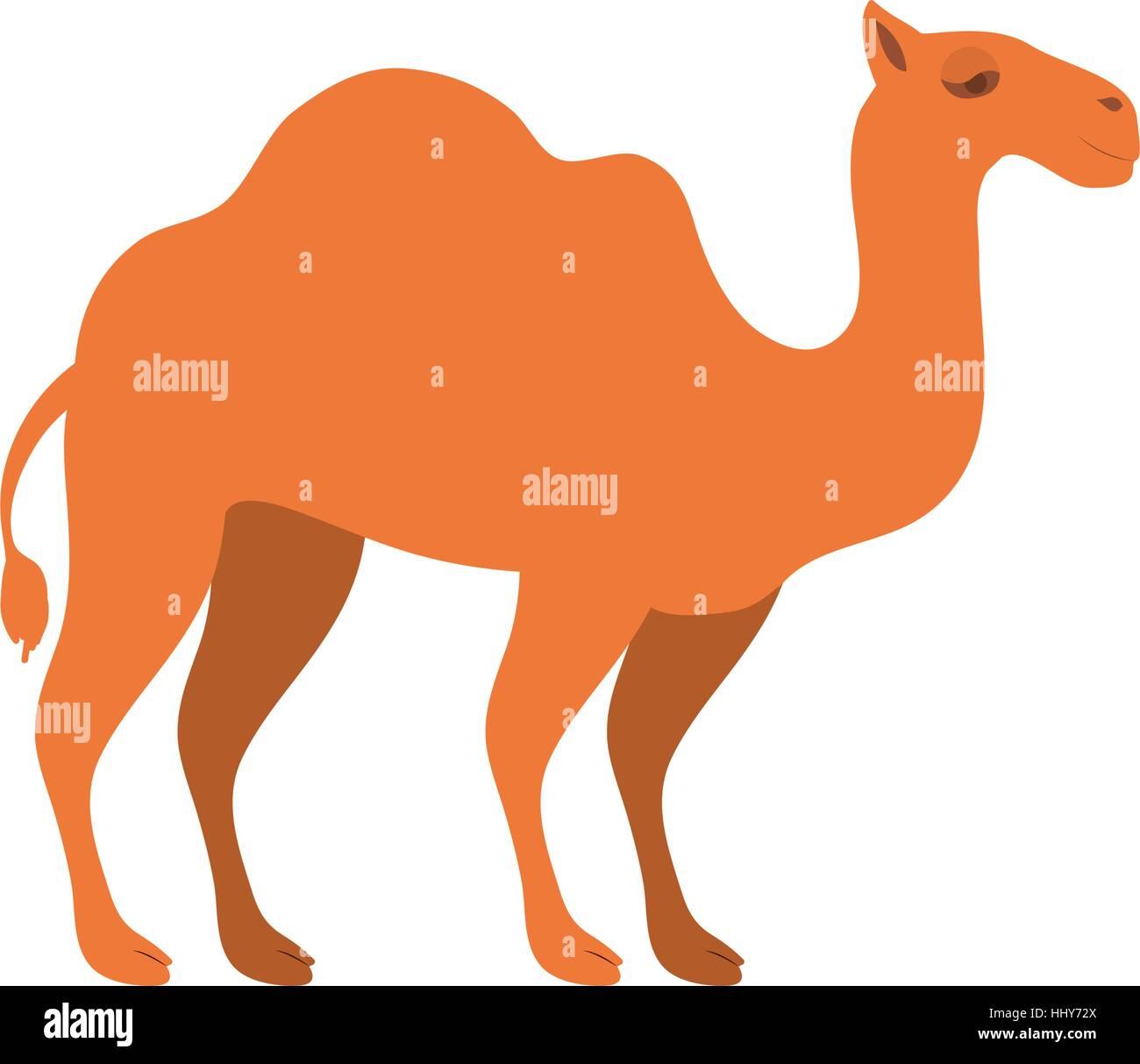 Animal Figure Of Camel Cartoon Vector Illustration Stock