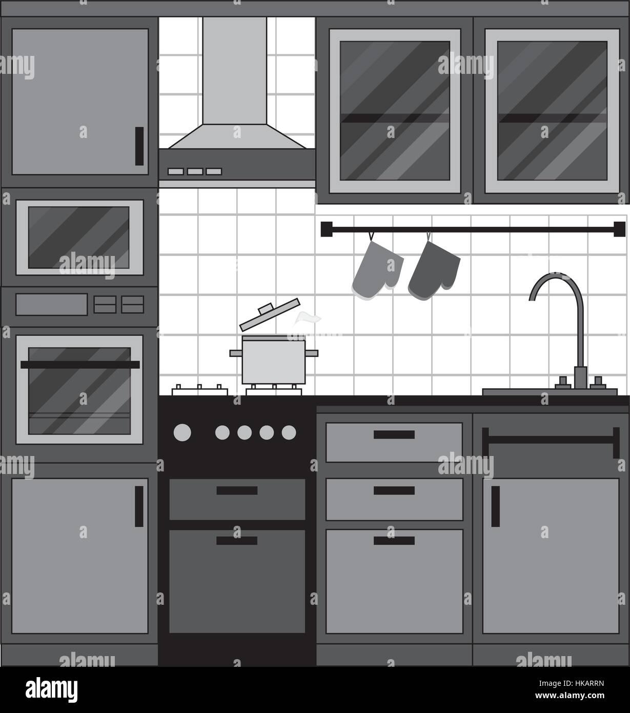 https www alamy com stock photo kitchen interior design home furniture set of elements stove oven 132389257 html