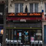 The Black Cat Cafe In The 1st Arrondissement Of Paris In Winter Stock Photo Alamy