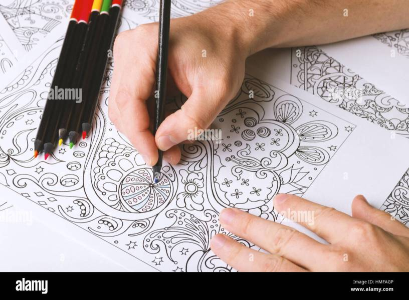 Adult Coloring Book Pages Stock Photos For Adults Is Zen