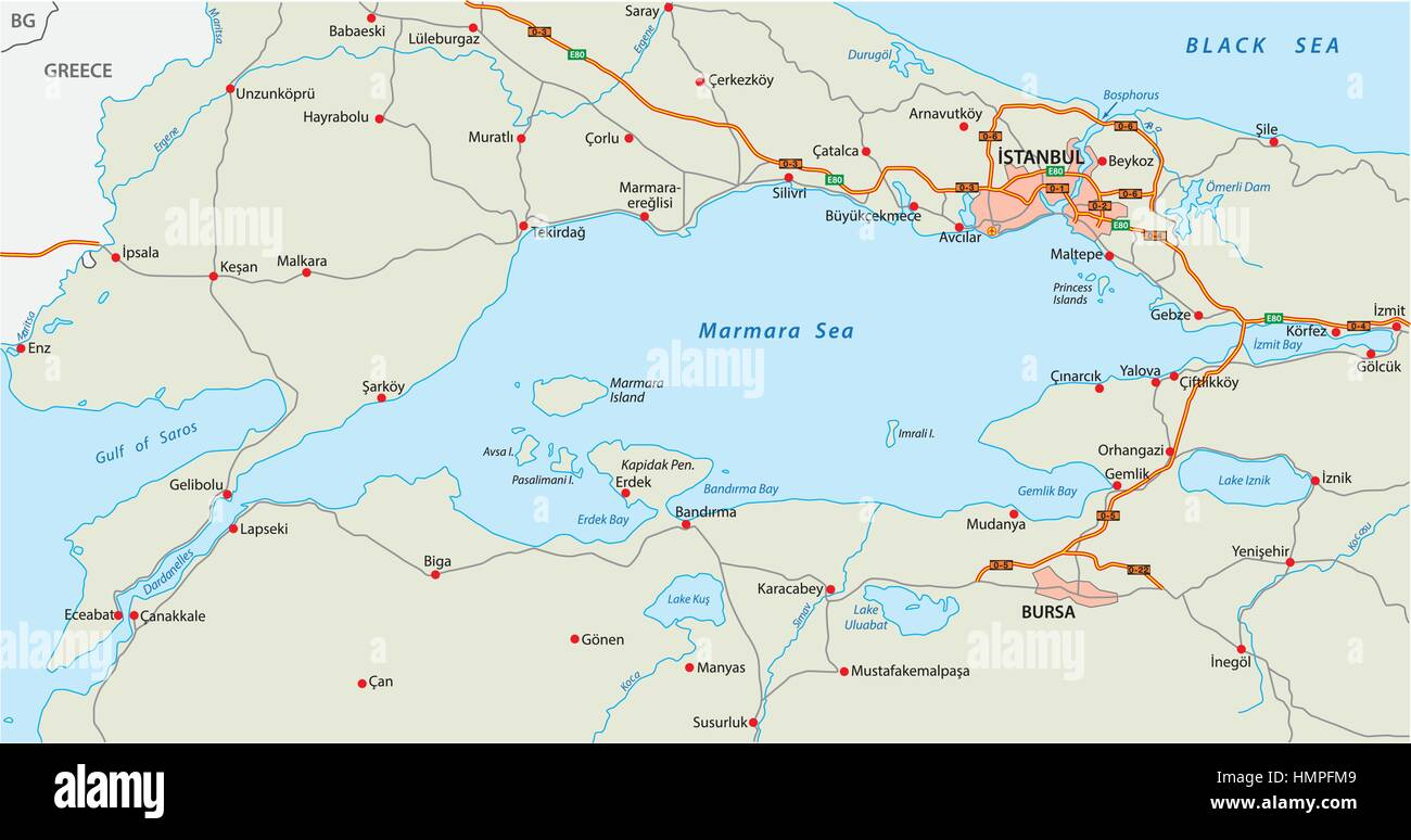 Sea And Black Istanbul Maps
