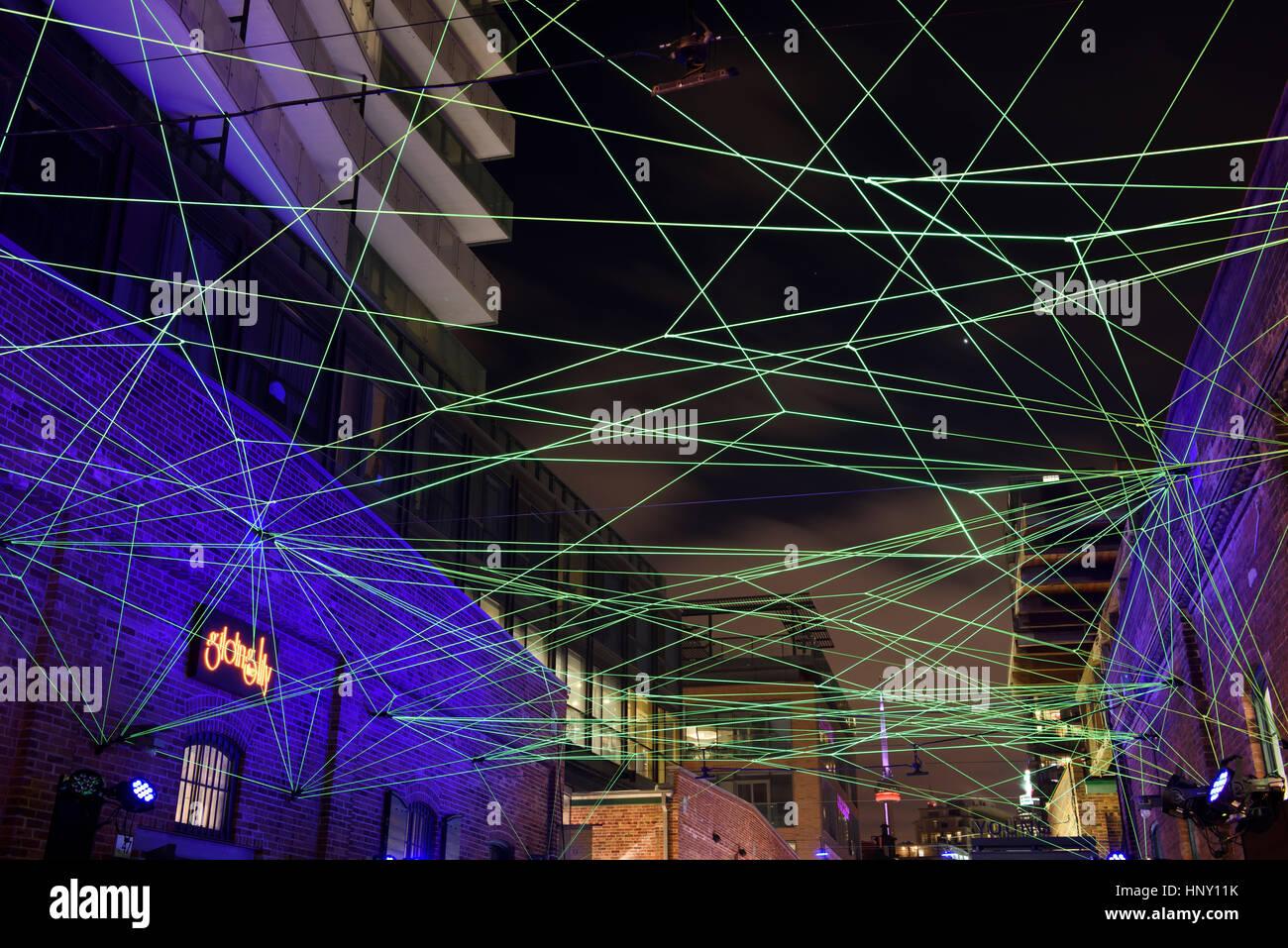 https www alamy com stock photo green fiber optic cables art installation at toronto light festival 133973887 html