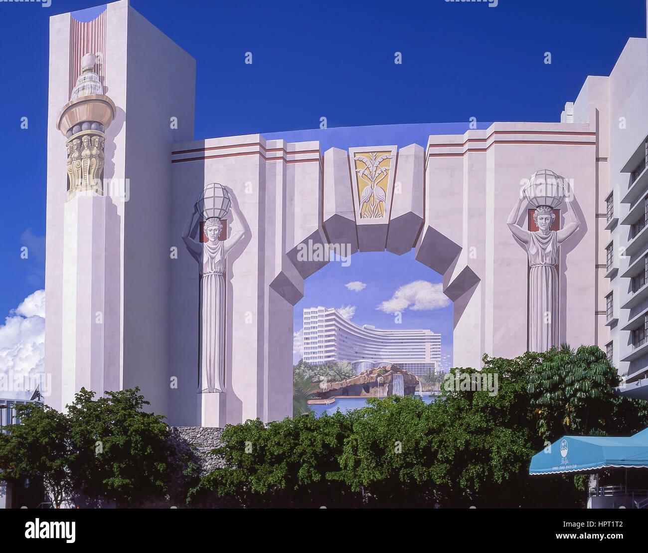 Finest Art Deco Trompeluil Mural Hotel Collins Avenue