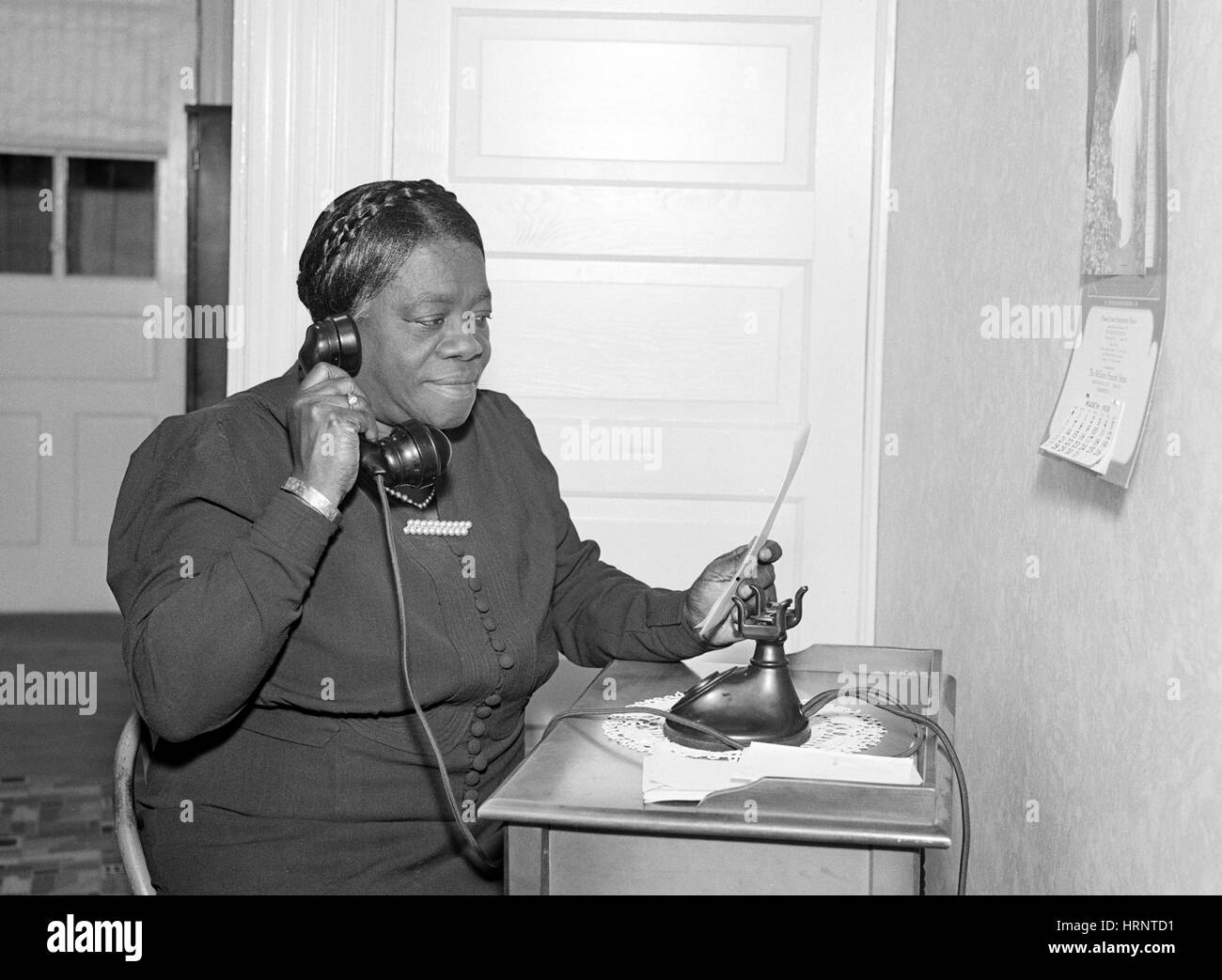 Mary Mcleod Bethune Civil Rights Activist Stock Photo
