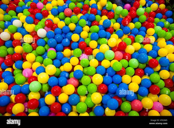 Many colour plastic balls for background plastic balls in