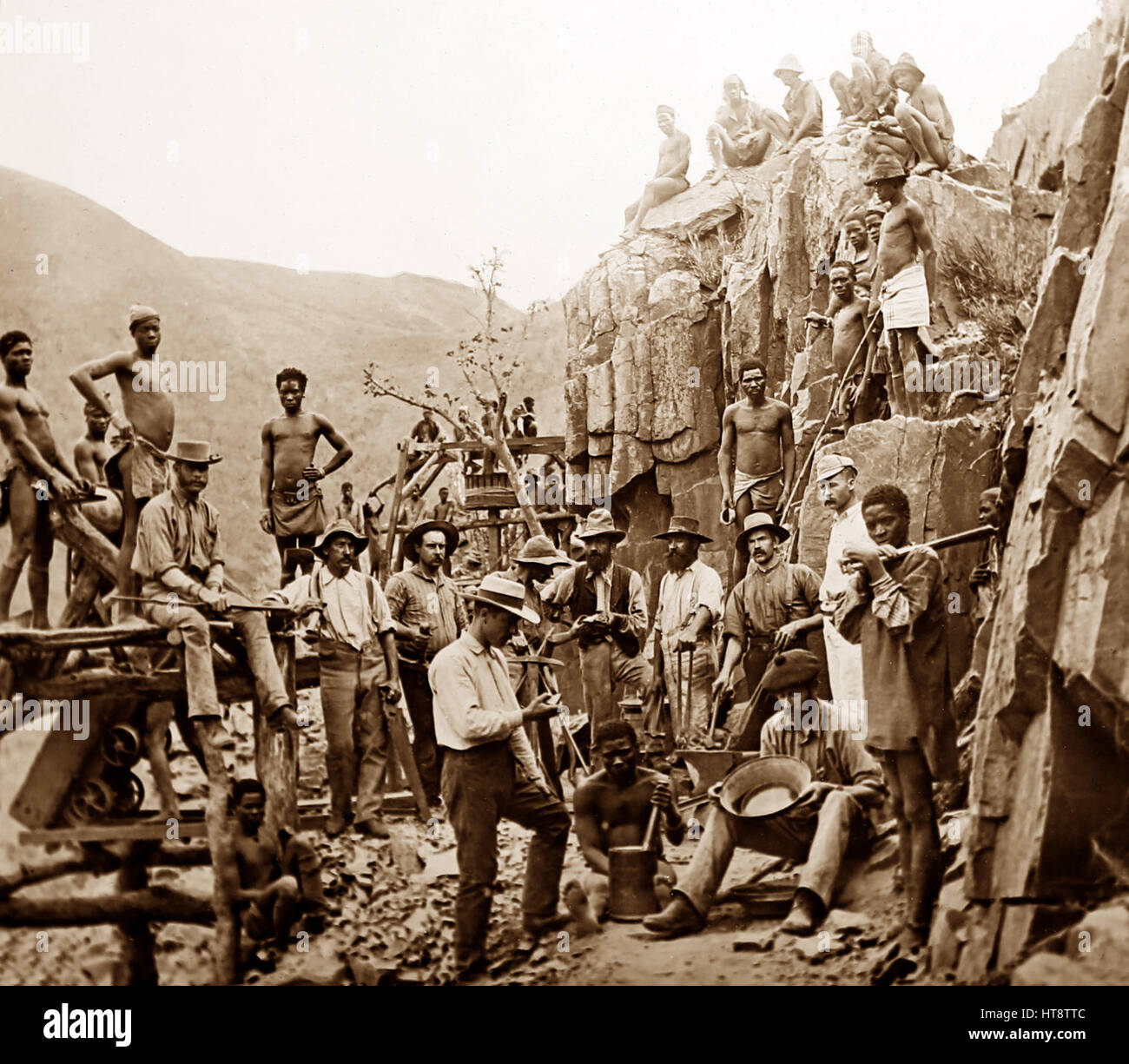 Gold Mine Workers In South Africa