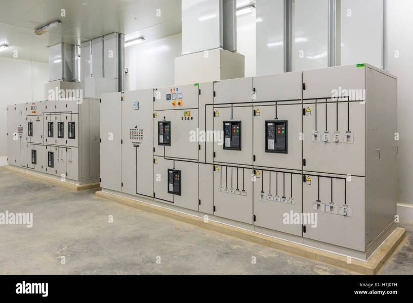 Electrical Control Room Stock Photos   Electrical Control Room Stock     Electric control cabinet substation in a new factory plant    Stock Image