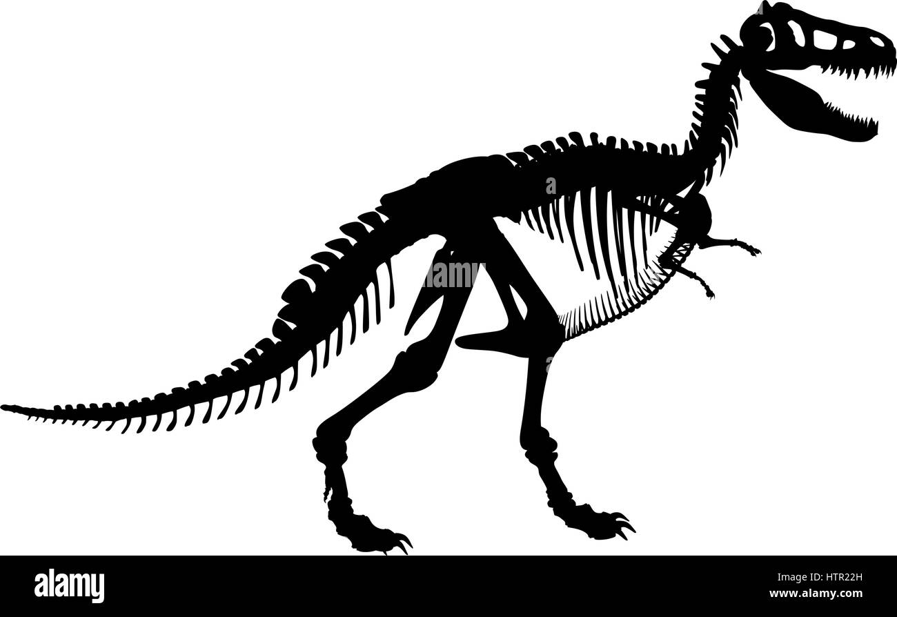 Vector Silhouette Illustration Of A Tyrannosaurus Rex