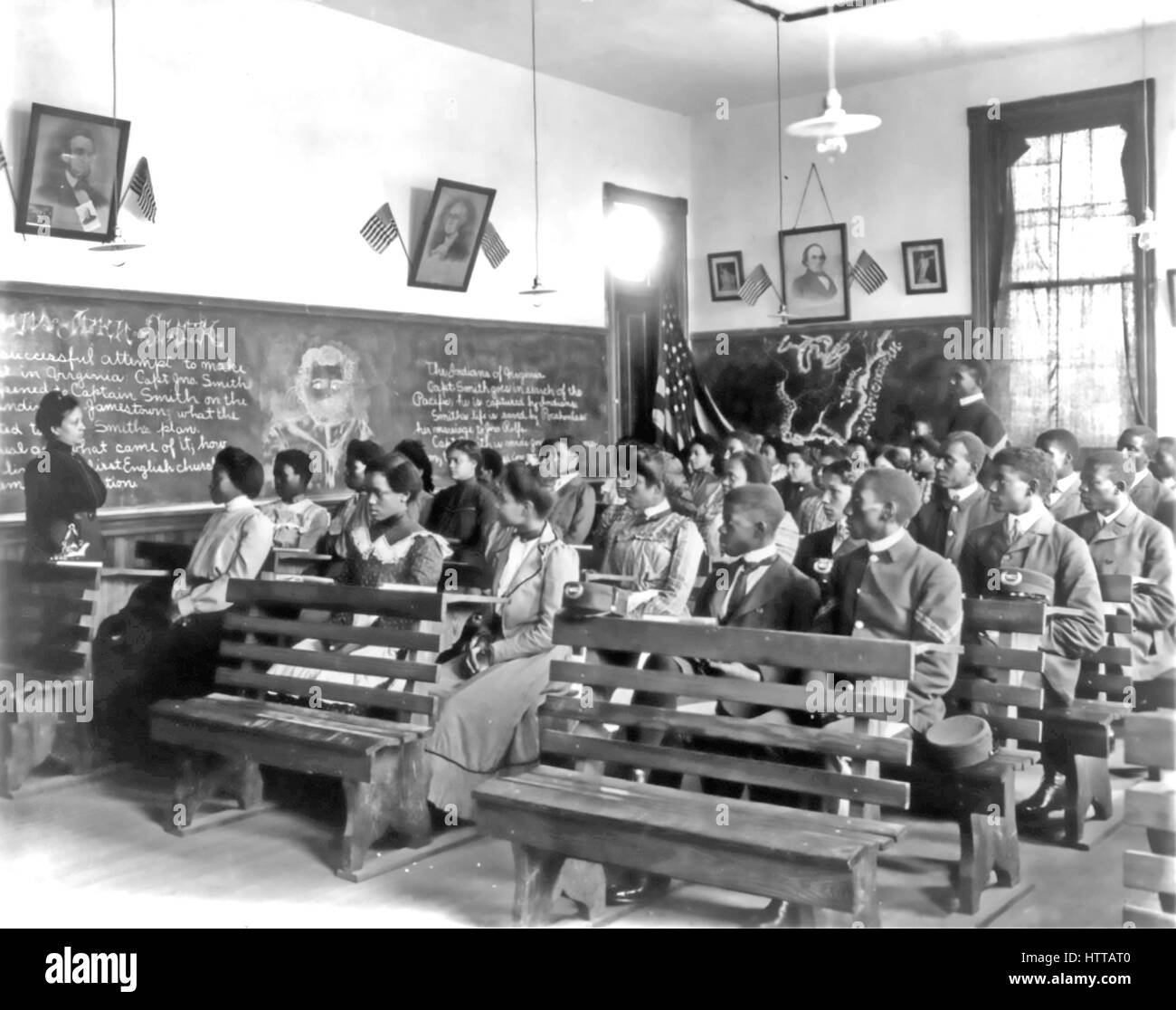 Tuskegee University Stock Photos   Tuskegee University Stock Images     TUSKEGEE NORMAL SCHOOL Alabama  A history lesson in progress about 1900    Stock Image