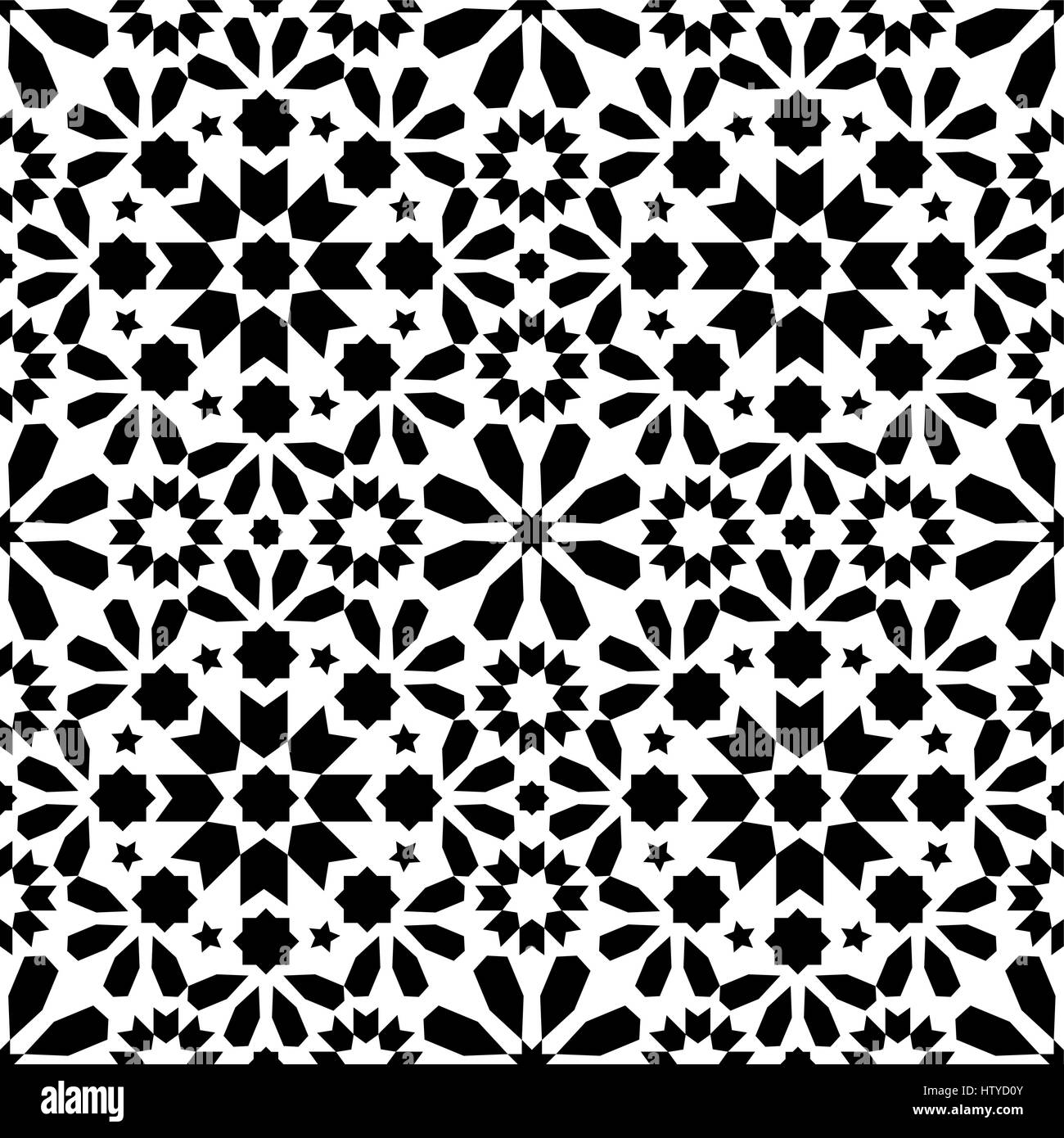 https www alamy com stock photo geometric seamless pattern moroccan tiles design seamless black tile 135827243 html