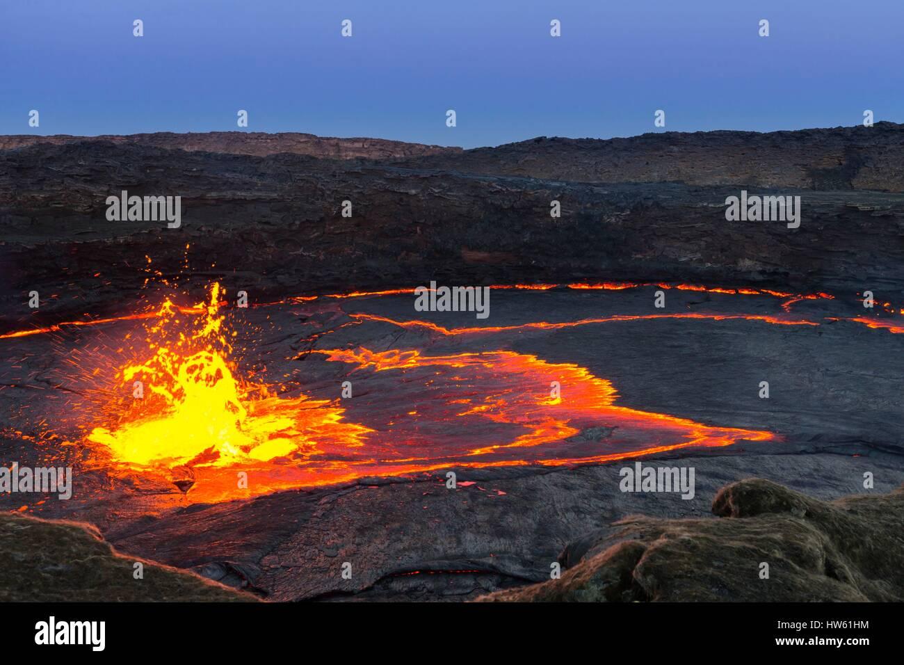 Ethiopia, Afar Region, Great Rift Valley, Erta Ale Volcano