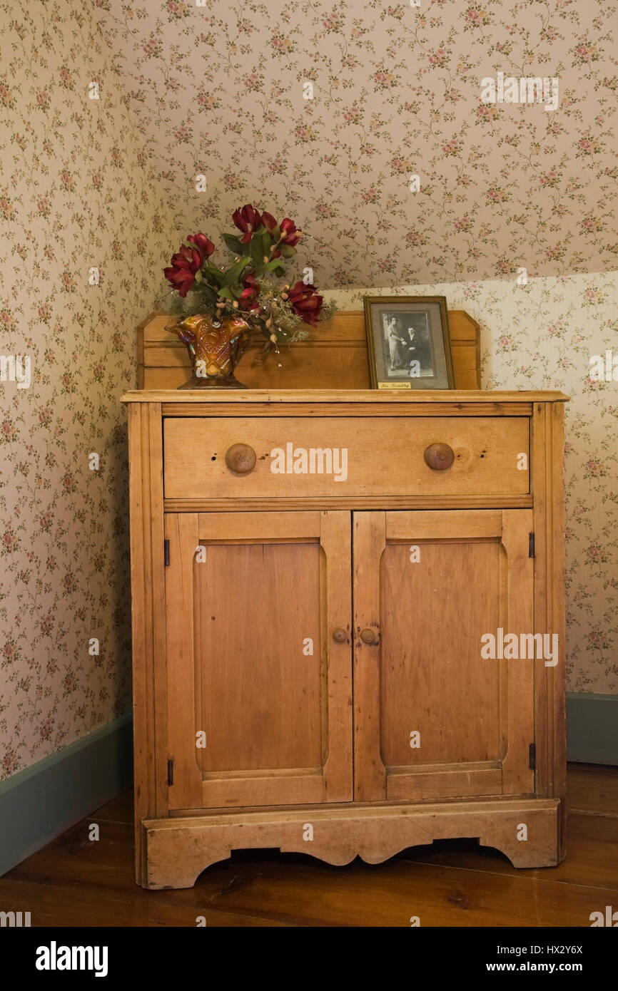 https www alamy com stock photo antique wooden dresser in corner of a bedroom in 1741 canadiana old 136518898 html