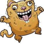 A Cartoon Illustration Of An Ugly Cat Looking Crazy Stock Vector Image Art Alamy