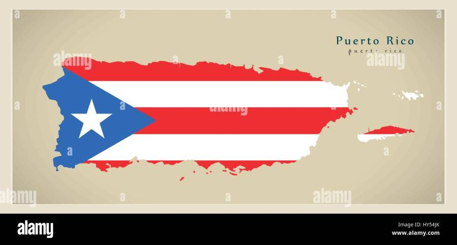 Map Puerto Rico Stock Photos   Map Puerto Rico Stock Images   Alamy Modern Map   Puerto Rico colored PR   Stock Image