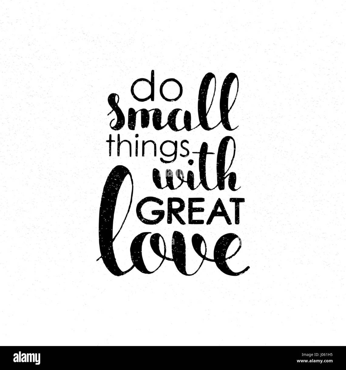 Download Do small things with great love handwritten lettering ...